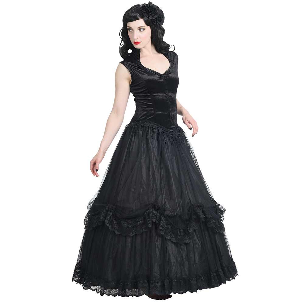 Almyra jurk zwart - gothic Halloween
