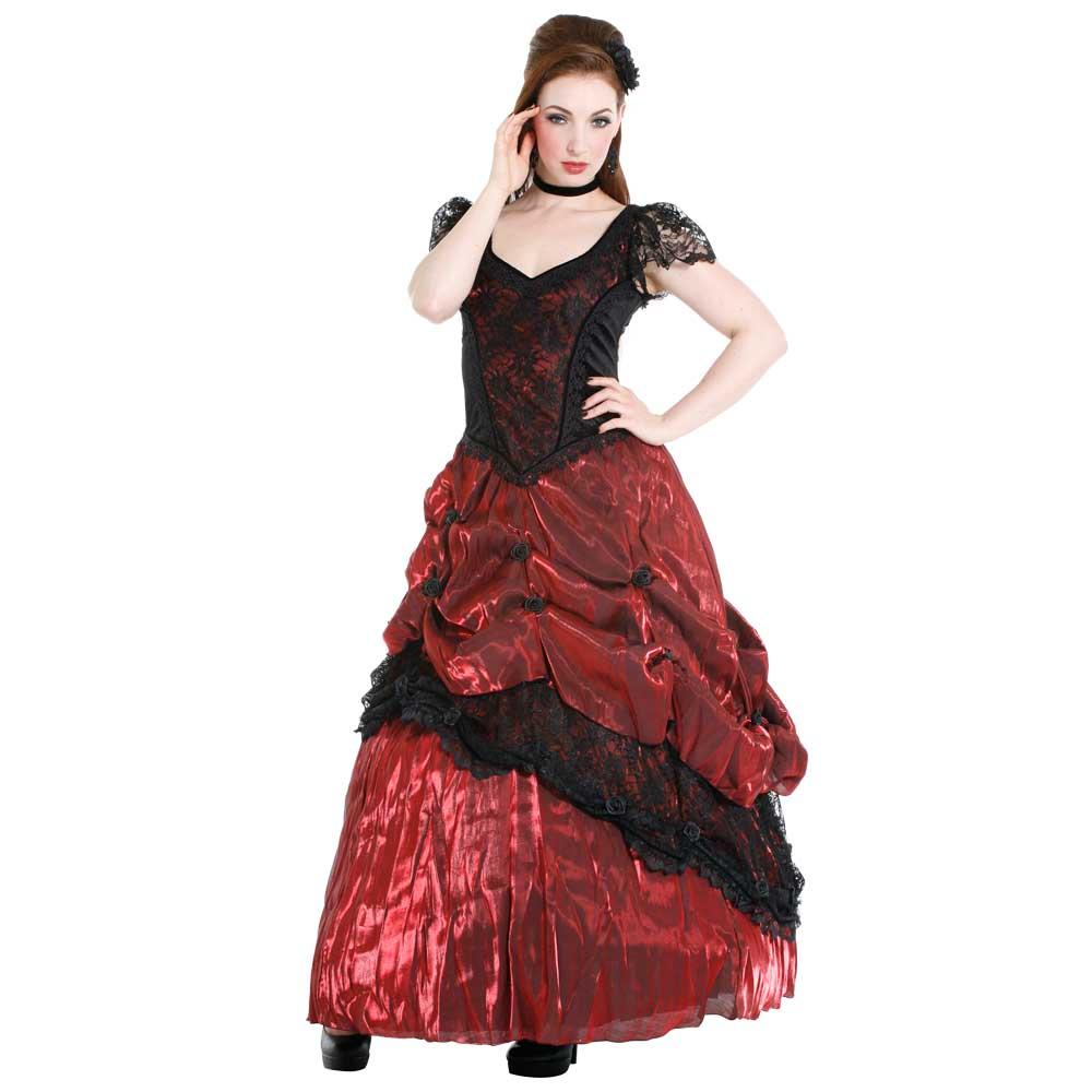 24f73811297f88 Sinister Sinister Lange jurk 843 Rood