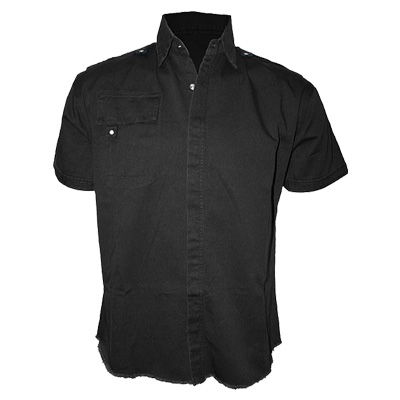 Short sleeve workshirt black - Spiral