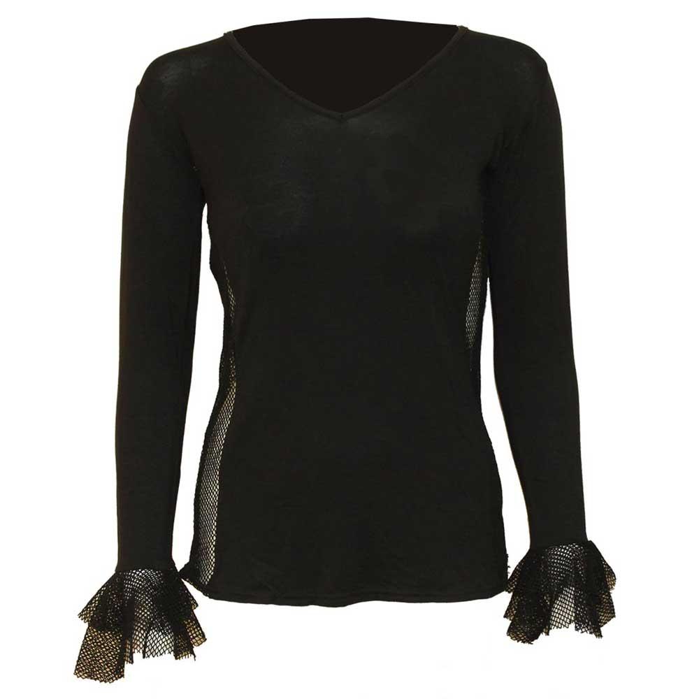 Gothic Elegance, basic dames top met gaa