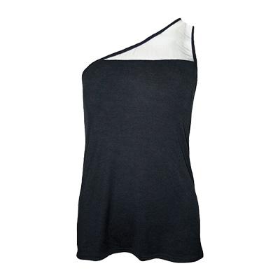 One shoulder top black - Spiral