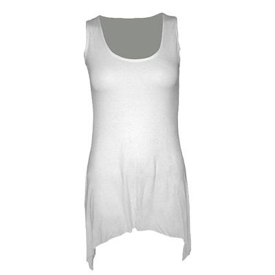 Goth bottom vest viscose white - Spir