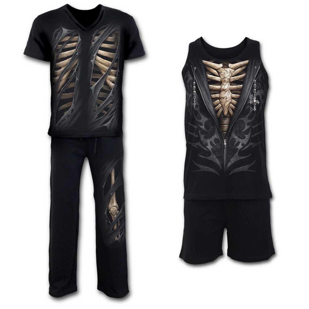 Bone Rips Gothic Metal Fantasy Skelet H