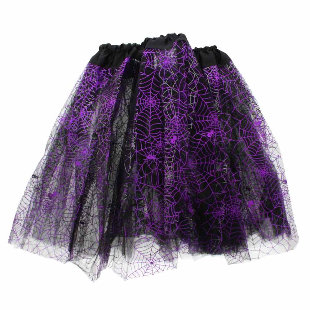 Cobweb tutu skirt black/purple - Zac's A
