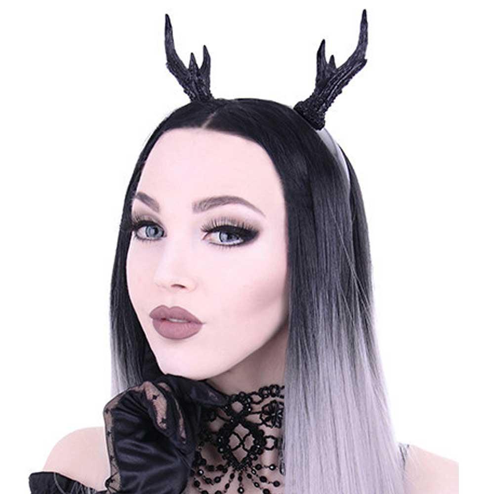 Deer antler horns headband accessory bla
