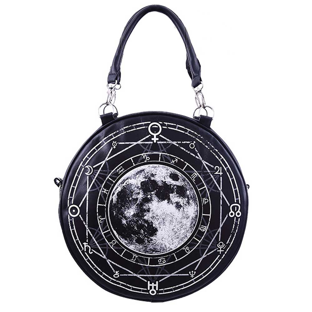 Luna Full Moon round shoulder/handbag bl
