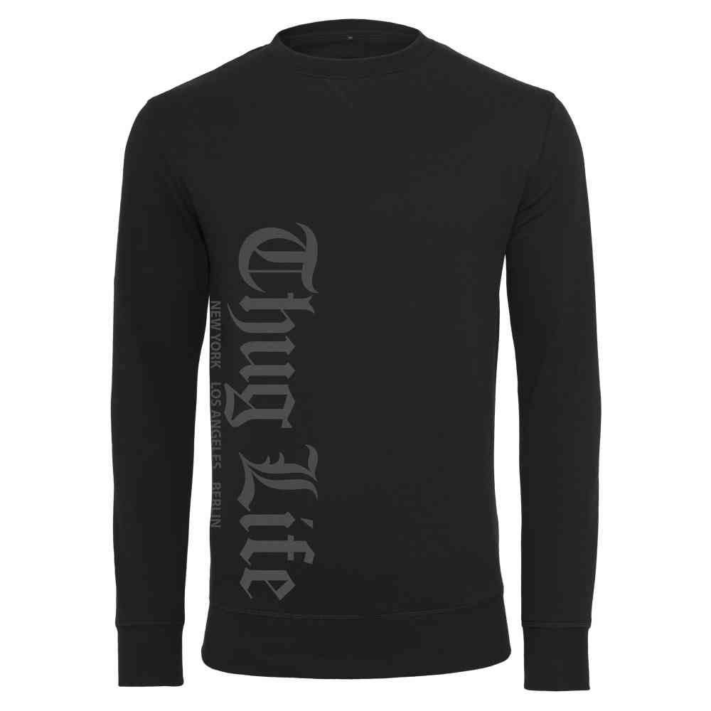 Thug Life Old English Crewneck black